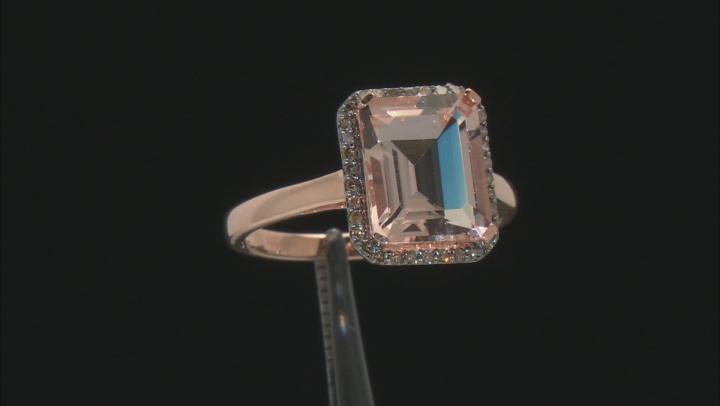 Pink Morganite 14k Rose Gold Ring 4.00ctw
