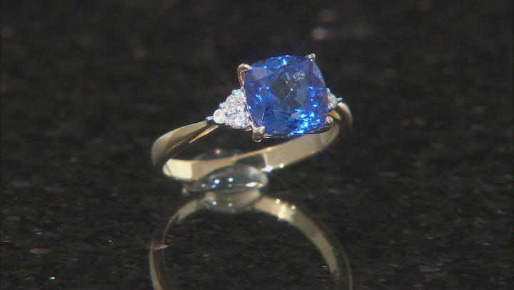 Blue Tanzanite 14k Yellow Gold Ring 2.18ctw