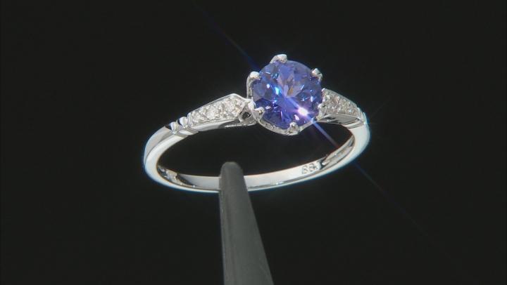 Blue Tanzanite Rhodium Over 14k White Gold Ring 1.19ctw