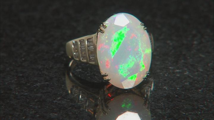 White Ethiopian Opal 14k Yellow Gold Ring 8.03ctw
