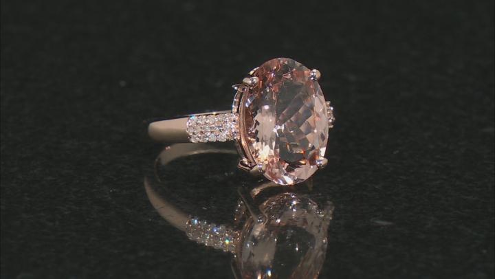 Pink Morganite 14k Rose Gold Ring 4.65ctw