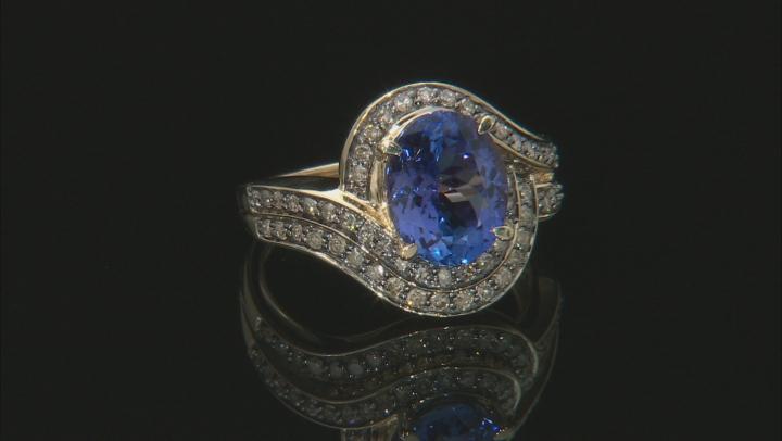 Blue Tanzanite 14k Yellow Gold Ring 3.25ctw