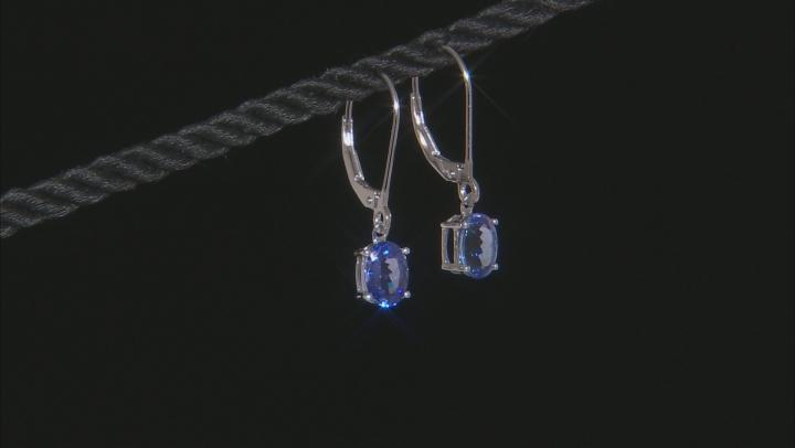 Blue Tanzanite Platinum Earrings 2.00ctw