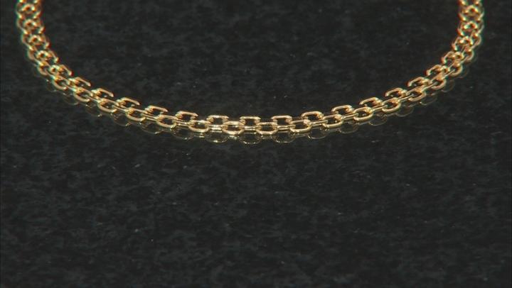 10k Yellow Gold Hollow Bismark Link Bracelet