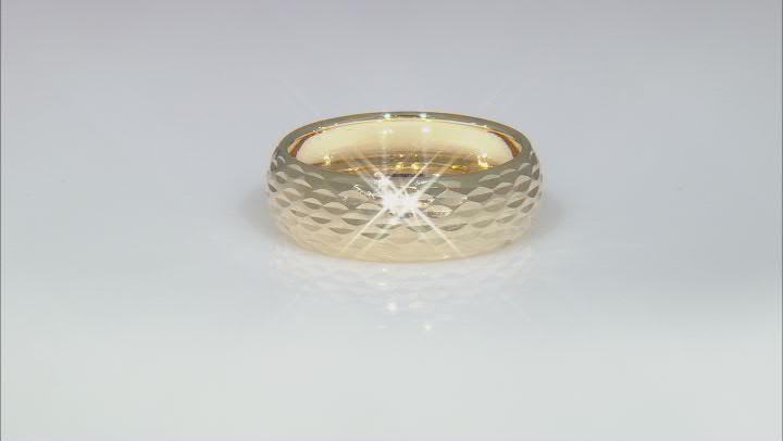 10k Yellow Gold Diamond-Cut Band Ring