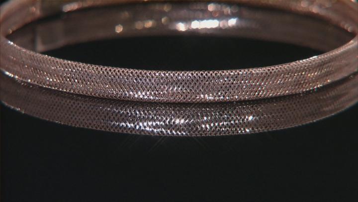 10k Rose Gold Mesh Link Bangle Bracelet 7 inch