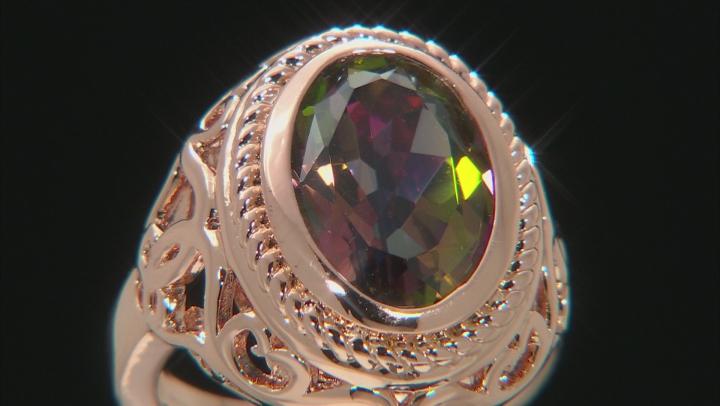 Sweet Tart™ Quartz Copper Solitaire Ring 4.90ct
