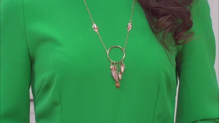 Copper Dream Catcher Design Necklace