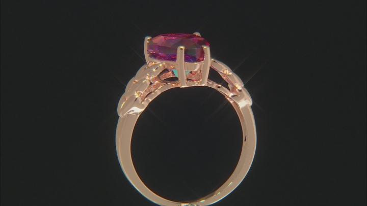 Red Savage Fire™ Quartz Copper Solitaire Ring