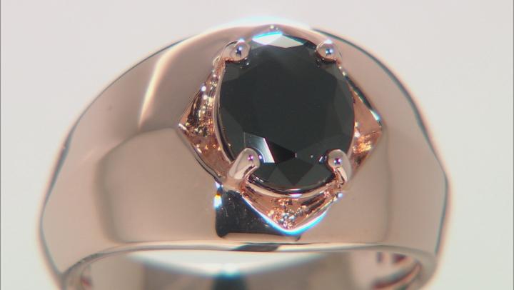Black Spinel Copper Men's Ring 2.46ct