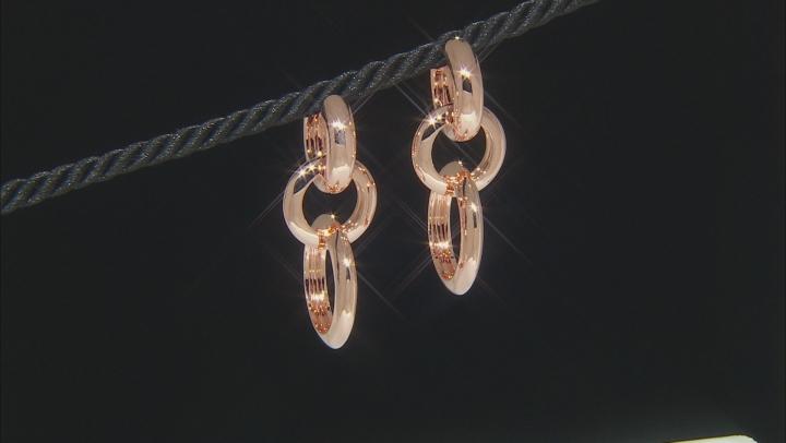 2-Ring Charm & Copper Huggie Earrings