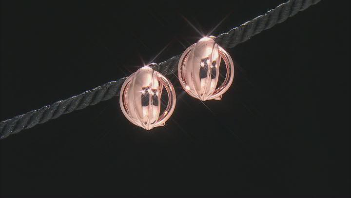 Open Design Copper Earrings