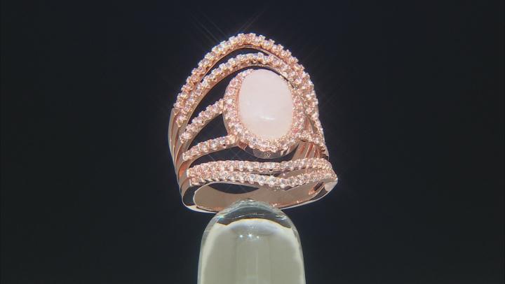 Rose Quartz Copper Ring 1.15ctw