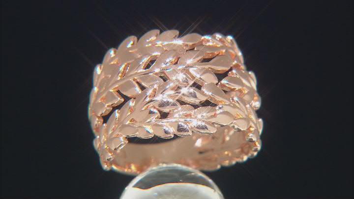 Copper Leaf Band Ring