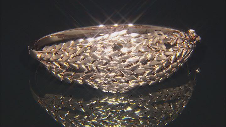 Leaf Textured Design Copper Bracelet