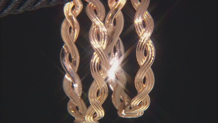 Copper Twisted Braid Hoop Earrings
