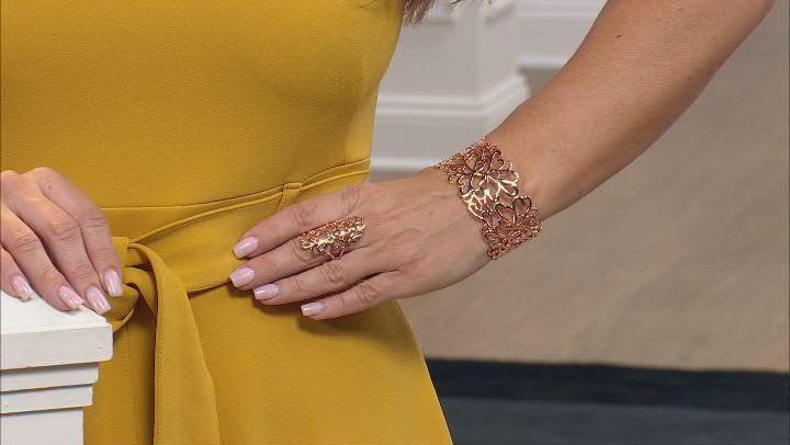 Copper Filigree Knuckle Ring