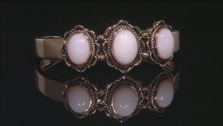 Copper Pink Peruvian Opal Cuff Bracelet