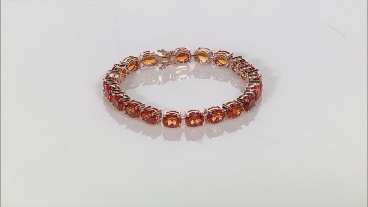 Copper Lab Created Padparadscha Sapphire Bracelet 53.00ctw