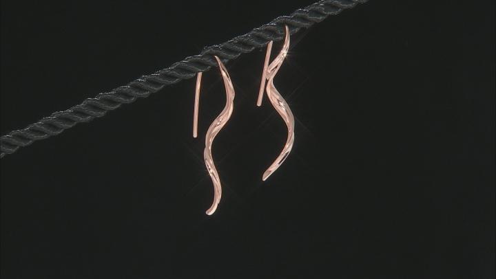 Twisted Copper Drop Earrings