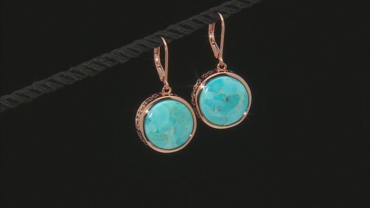 Turquoise Copper Earrings