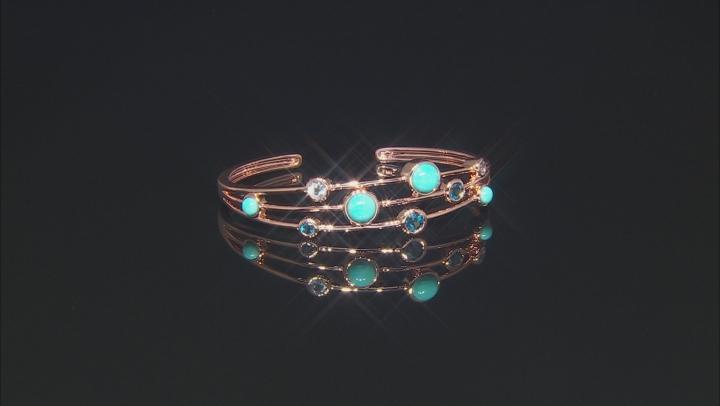 Timna Jewelry Collection™ London Blue Topaz Copper Bracelet 2.69ctw