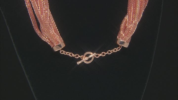 Copper Seven-Strand Mesh Necklace