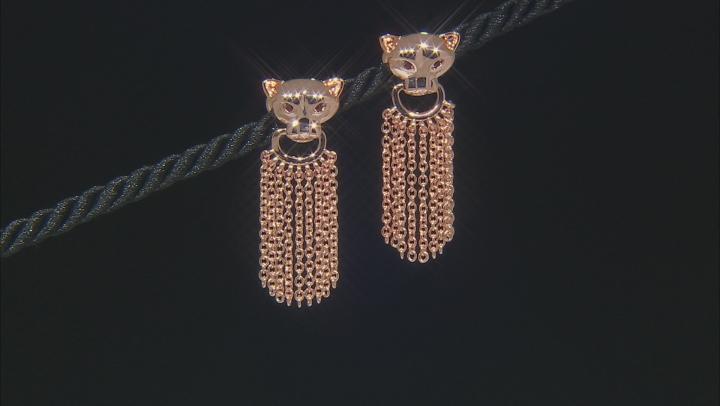 Copper Red Garnet Jaguar Earrings .05ctw