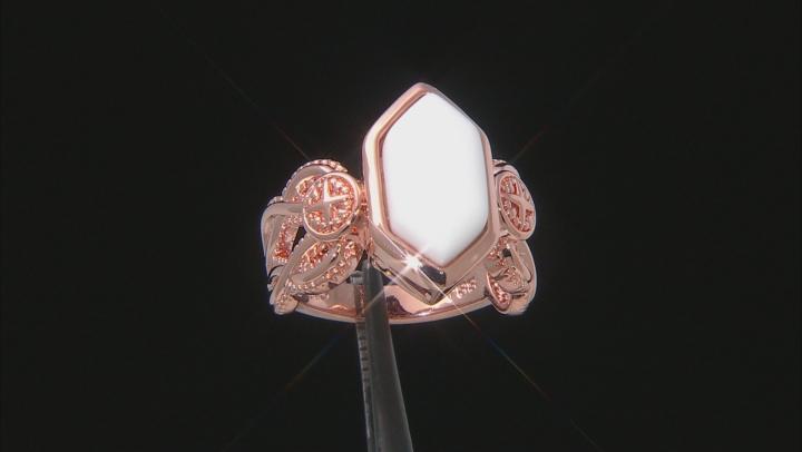 Copper White Onyx Ring