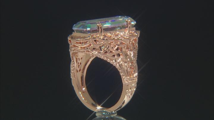 RainDrops™ Quartz Solitaire Copper Ring 5.78ct