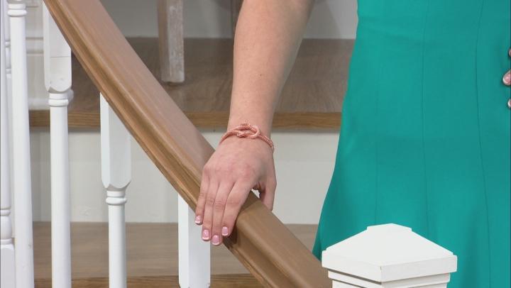 Copper Two-Strand Mesh Knot Bracelet