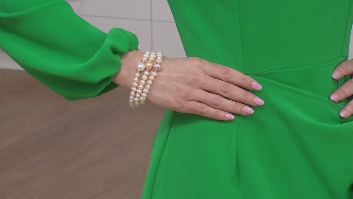 Cultured Freshwater Pearl Stretch Bracelet Set of 3