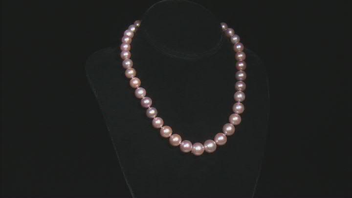 Natural Lavender Color Cultured Kasumiga Pearl 14k White Gold 18 Inch Strand Necklace