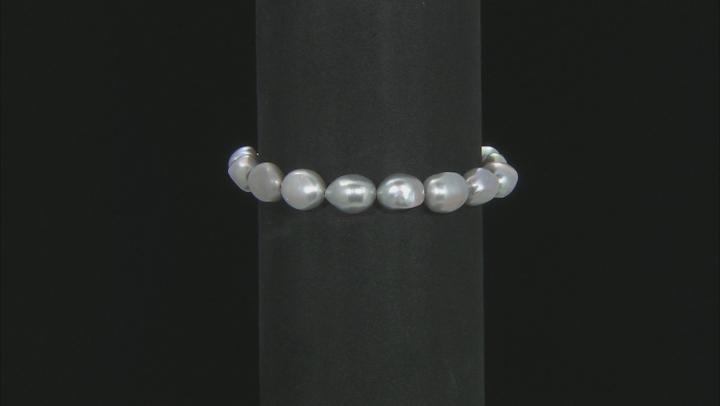 Cultured Freshwater Pearl Stainless Steel Adjustable Bracelet Set of 3