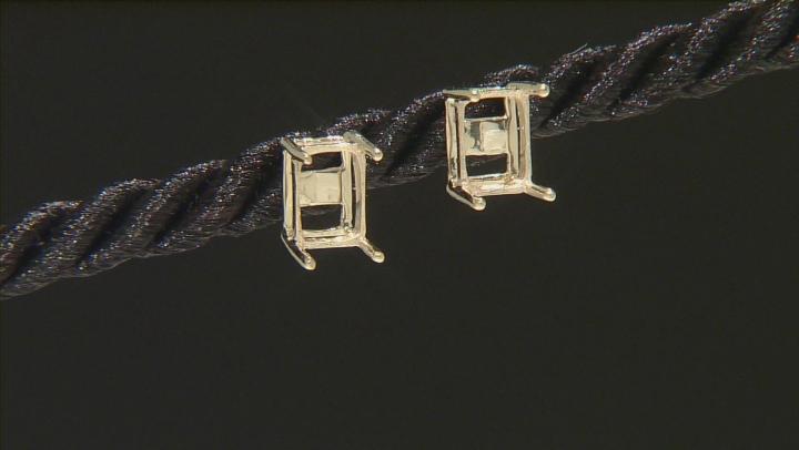 Gemsavvy Sentiments™10kt Yg 7x5mm Rc/Oc Earring Castings