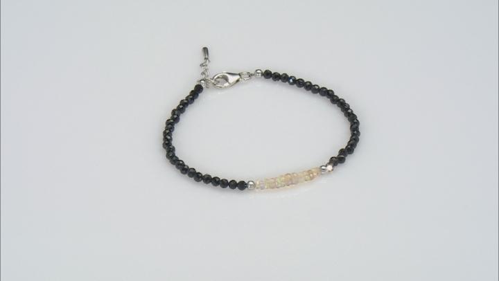 Multi-color opal rhodium over sterling silver bracelet