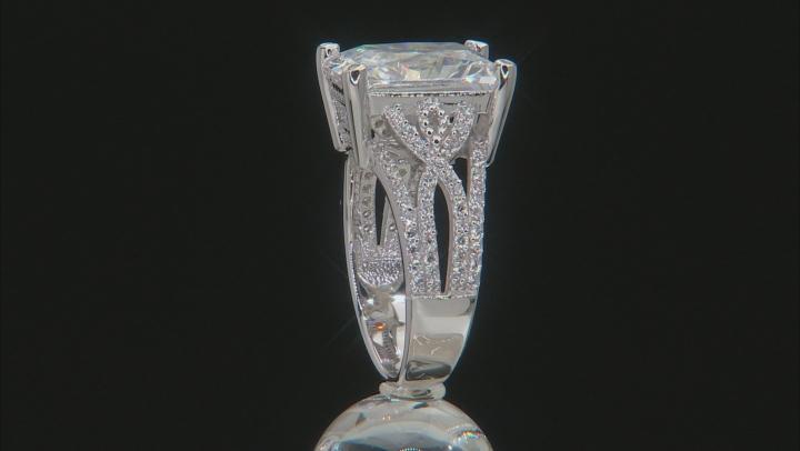 Cubic Zirconia Silver Ring 16.14ctw