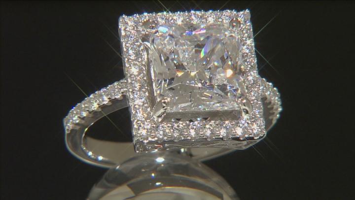 Cubic Zirconia Silver Ring 6.51ctw (4.72ctw DEW)