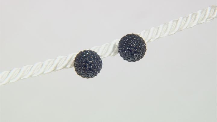 Black Cubic Zirconia Black Rhodium Over Sterling Silver Earrings 5.64ctw