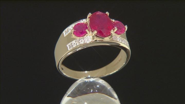 Mahaleo Ruby 10k Yellow Gold Ring 2.14ctw.