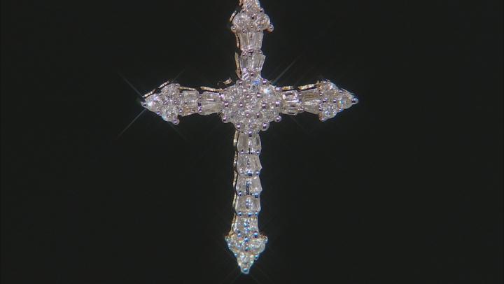 Diamond Cross Pendant 10k Yellow Gold .50ctw.