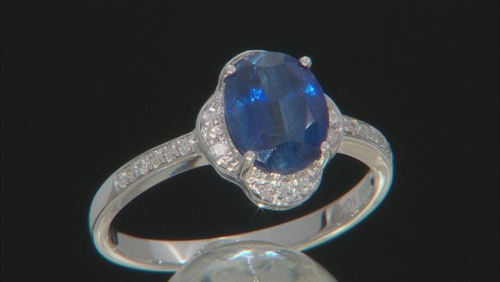 Blue Kyanite 10k White Gold Ring 2.30ctw