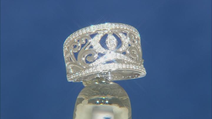 Enchanted Disney Cinderella Carriage Ring White Diamond 14K White Gold 0.33ctw