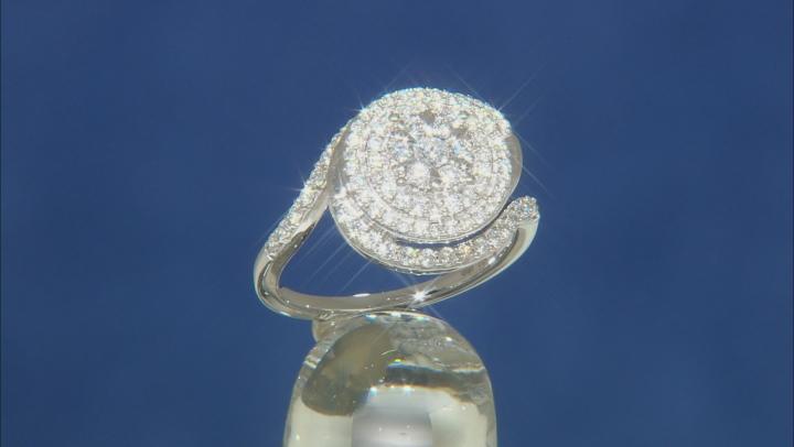 Enchanted Disney Elsa Snowflake Engagement Ring White Diamond 14K White Gold 0.75ctw