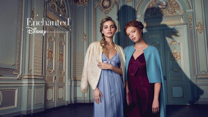 Enchanted Disney Anna Ring Rhodolite Garnet And White Diamond 10K White And Yellow Gold 1.20ctw