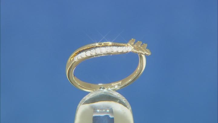 Enchanted Disney Anna Ring White Diamond 10K Yellow Gold 0.10ctw