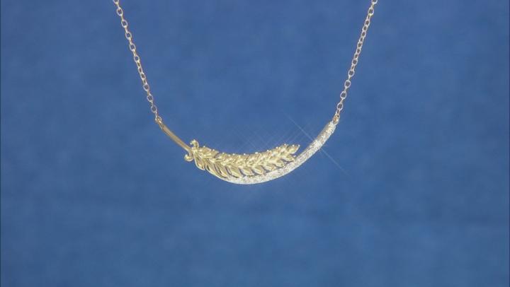 Enchanted Disney Anna Necklace White Diamond 10K Yellow And White Gold 0.15ctw