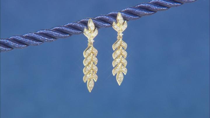 Enchanted Disney Anna Earrings Round White Diamond 10K Yellow Gold 0.20ctw