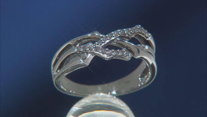 Enchanted Disney Villains Maleficent Ring Black Diamond, Black Rhodium Over Silver 0.20ctw