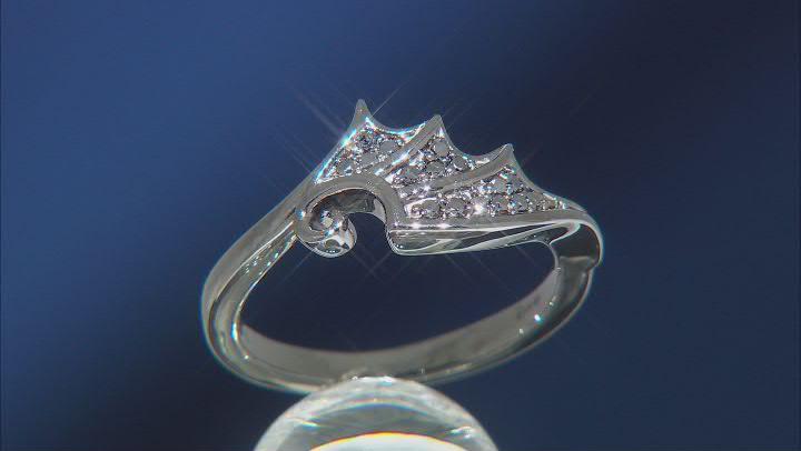 Enchanted Disney Villains Maleficent Ring Black Diamond, Black Rhodium Over Silver 0.17ctw